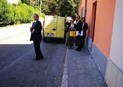 Delegazione ambasciata giapponese a Matera, presso il forno del rione Serra Venerdì