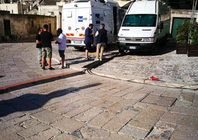 Diretta UnoMattina a Matera per celebrazioni allunaggio - - Troupe a lavoro